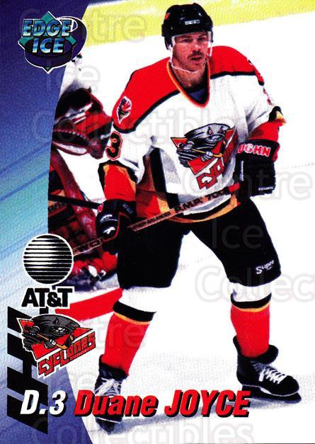 1995-96 Cincinnati Cyclones #10 Duane Joyce<br/>3 In Stock - $3.00 each - <a href=https://centericecollectibles.foxycart.com/cart?name=1995-96%20Cincinnati%20Cyclones%20%2310%20Duane%20Joyce...&quantity_max=3&price=$3.00&code=210718 class=foxycart> Buy it now! </a>