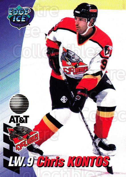1995-96 Cincinnati Cyclones #11 Chris Kontos<br/>3 In Stock - $3.00 each - <a href=https://centericecollectibles.foxycart.com/cart?name=1995-96%20Cincinnati%20Cyclones%20%2311%20Chris%20Kontos...&quantity_max=3&price=$3.00&code=210719 class=foxycart> Buy it now! </a>