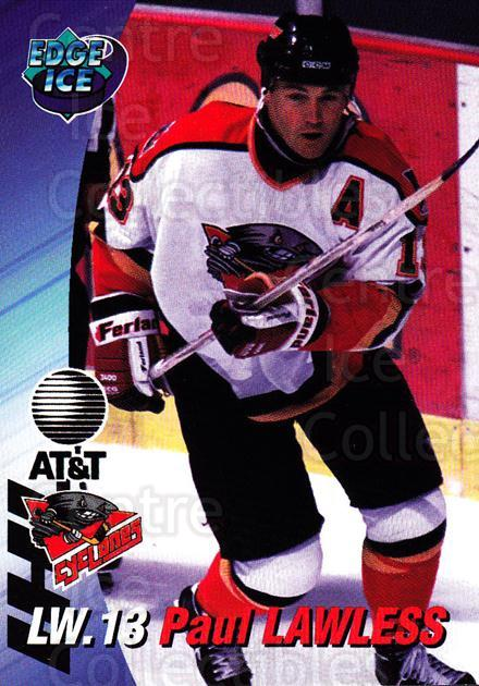 1995-96 Cincinnati Cyclones #13 Paul Lawless<br/>3 In Stock - $3.00 each - <a href=https://centericecollectibles.foxycart.com/cart?name=1995-96%20Cincinnati%20Cyclones%20%2313%20Paul%20Lawless...&quantity_max=3&price=$3.00&code=210721 class=foxycart> Buy it now! </a>
