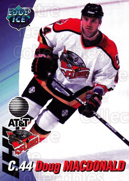 1995-96 Cincinnati Cyclones #15 Doug MacDonald<br/>4 In Stock - $3.00 each - <a href=https://centericecollectibles.foxycart.com/cart?name=1995-96%20Cincinnati%20Cyclones%20%2315%20Doug%20MacDonald...&quantity_max=4&price=$3.00&code=210723 class=foxycart> Buy it now! </a>