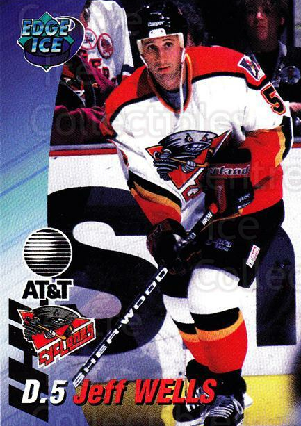 1995-96 Cincinnati Cyclones #19 Jeff Wells<br/>3 In Stock - $3.00 each - <a href=https://centericecollectibles.foxycart.com/cart?name=1995-96%20Cincinnati%20Cyclones%20%2319%20Jeff%20Wells...&quantity_max=3&price=$3.00&code=210727 class=foxycart> Buy it now! </a>