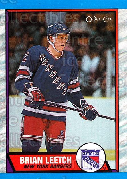 1989-90 O-Pee-Chee #136 Brian Leetch<br/>40 In Stock - $3.00 each - <a href=https://centericecollectibles.foxycart.com/cart?name=1989-90%20O-Pee-Chee%20%23136%20Brian%20Leetch...&price=$3.00&code=21091 class=foxycart> Buy it now! </a>
