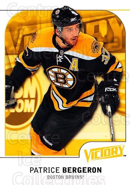 2009-10 UD Victory #14 Patrice Bergeron<br/>3 In Stock - $2.00 each - <a href=https://centericecollectibles.foxycart.com/cart?name=2009-10%20UD%20Victory%20%2314%20Patrice%20Bergero...&quantity_max=3&price=$2.00&code=210981 class=foxycart> Buy it now! </a>