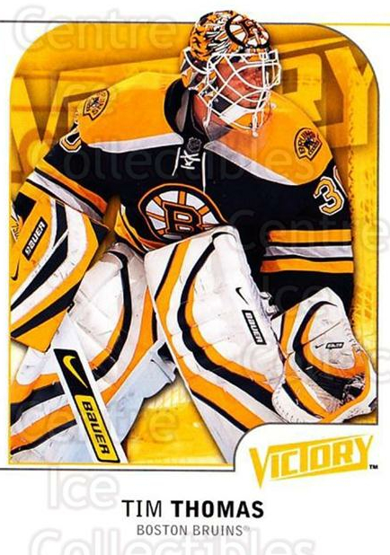 2009-10 UD Victory #18 Tim Thomas<br/>3 In Stock - $1.00 each - <a href=https://centericecollectibles.foxycart.com/cart?name=2009-10%20UD%20Victory%20%2318%20Tim%20Thomas...&quantity_max=3&price=$1.00&code=210985 class=foxycart> Buy it now! </a>