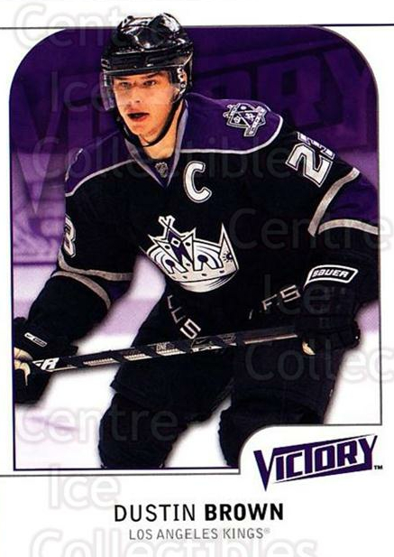 2009-10 UD Victory #94 Dustin Brown<br/>4 In Stock - $1.00 each - <a href=https://centericecollectibles.foxycart.com/cart?name=2009-10%20UD%20Victory%20%2394%20Dustin%20Brown...&quantity_max=4&price=$1.00&code=211061 class=foxycart> Buy it now! </a>