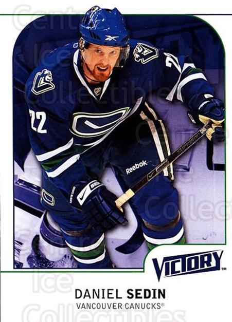 2009-10 UD Victory #187 Daniel Sedin<br/>1 In Stock - $1.00 each - <a href=https://centericecollectibles.foxycart.com/cart?name=2009-10%20UD%20Victory%20%23187%20Daniel%20Sedin...&price=$1.00&code=211154 class=foxycart> Buy it now! </a>