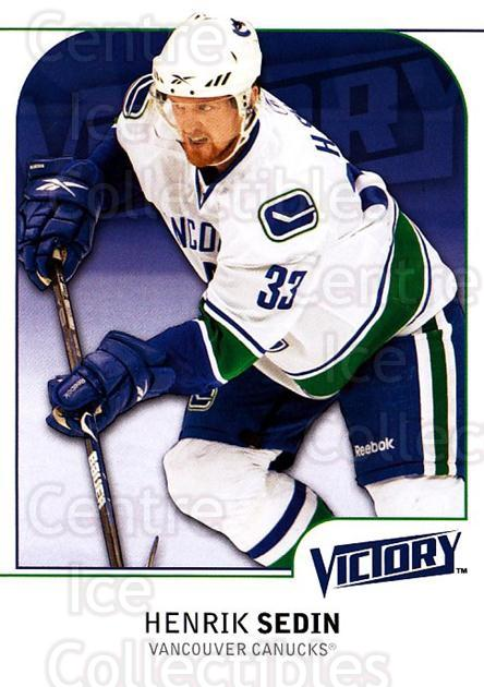 2009-10 UD Victory #188 Henrik Sedin<br/>3 In Stock - $1.00 each - <a href=https://centericecollectibles.foxycart.com/cart?name=2009-10%20UD%20Victory%20%23188%20Henrik%20Sedin...&quantity_max=3&price=$1.00&code=211155 class=foxycart> Buy it now! </a>