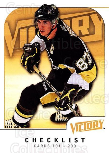 2009-10 UD Victory #199 Sidney Crosby, Checklist<br/>4 In Stock - $3.00 each - <a href=https://centericecollectibles.foxycart.com/cart?name=2009-10%20UD%20Victory%20%23199%20Sidney%20Crosby,%20...&quantity_max=4&price=$3.00&code=211166 class=foxycart> Buy it now! </a>