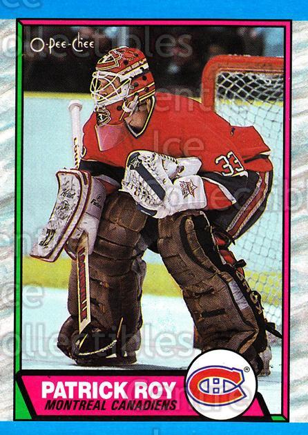 1989-90 O-Pee-Chee #17 Patrick Roy<br/>14 In Stock - $2.00 each - <a href=https://centericecollectibles.foxycart.com/cart?name=1989-90%20O-Pee-Chee%20%2317%20Patrick%20Roy...&price=$2.00&code=21126 class=foxycart> Buy it now! </a>