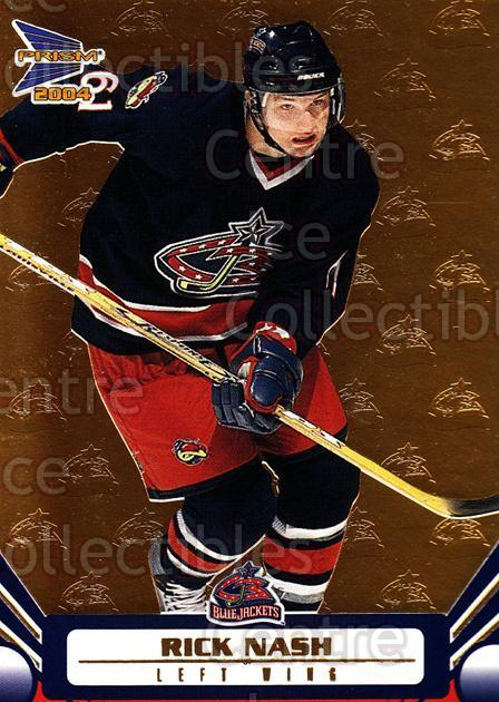 2003-04 Prism Gold #31 Rick Nash<br/>2 In Stock - $3.00 each - <a href=https://centericecollectibles.foxycart.com/cart?name=2003-04%20Prism%20Gold%20%2331%20Rick%20Nash...&quantity_max=2&price=$3.00&code=211627 class=foxycart> Buy it now! </a>