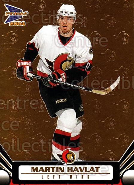 2003-04 Prism Gold #74 Martin Havlat<br/>2 In Stock - $3.00 each - <a href=https://centericecollectibles.foxycart.com/cart?name=2003-04%20Prism%20Gold%20%2374%20Martin%20Havlat...&quantity_max=2&price=$3.00&code=211668 class=foxycart> Buy it now! </a>