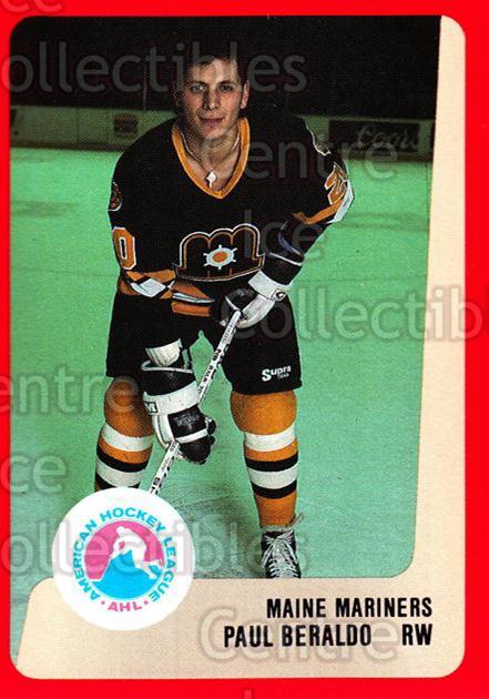 1988-89 ProCards AHL #149 Paul Beraldo<br/>9 In Stock - $2.00 each - <a href=https://centericecollectibles.foxycart.com/cart?name=1988-89%20ProCards%20AHL%20%23149%20Paul%20Beraldo...&price=$2.00&code=21186 class=foxycart> Buy it now! </a>