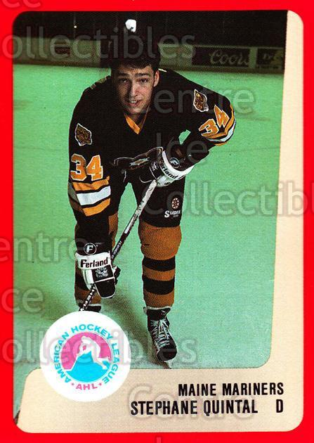 1988-89 ProCards AHL #153 Stephane Quintal<br/>12 In Stock - $2.00 each - <a href=https://centericecollectibles.foxycart.com/cart?name=1988-89%20ProCards%20AHL%20%23153%20Stephane%20Quinta...&quantity_max=12&price=$2.00&code=21191 class=foxycart> Buy it now! </a>