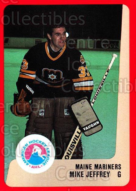 1988-89 ProCards AHL #158 Mike Jeffrey<br/>6 In Stock - $2.00 each - <a href=https://centericecollectibles.foxycart.com/cart?name=1988-89%20ProCards%20AHL%20%23158%20Mike%20Jeffrey...&price=$2.00&code=21196 class=foxycart> Buy it now! </a>