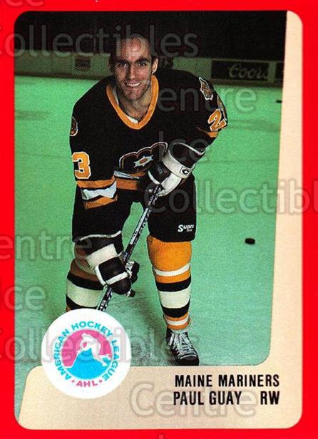 1988-89 ProCards AHL #161 Paul Guay<br/>10 In Stock - $2.00 each - <a href=https://centericecollectibles.foxycart.com/cart?name=1988-89%20ProCards%20AHL%20%23161%20Paul%20Guay...&price=$2.00&code=21200 class=foxycart> Buy it now! </a>