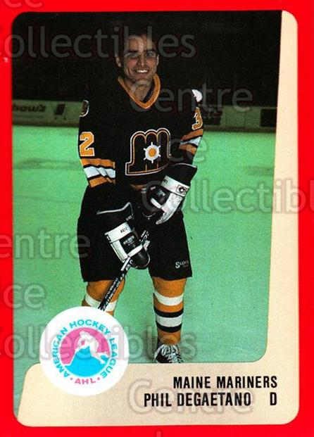 1988-89 ProCards AHL #164 Phil Degaetano<br/>8 In Stock - $2.00 each - <a href=https://centericecollectibles.foxycart.com/cart?name=1988-89%20ProCards%20AHL%20%23164%20Phil%20Degaetano...&price=$2.00&code=21203 class=foxycart> Buy it now! </a>