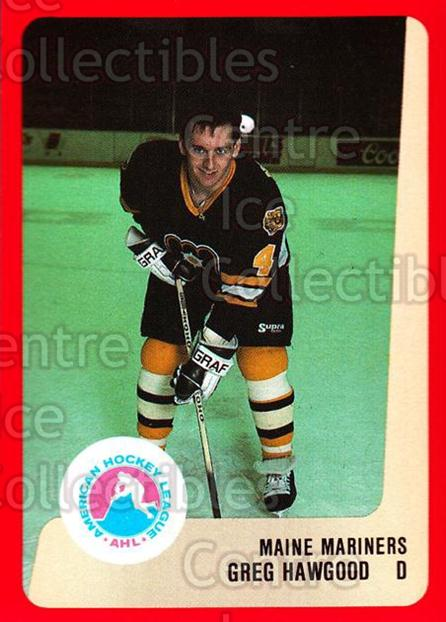 1988-89 ProCards AHL #168 Greg Hawgood<br/>13 In Stock - $2.00 each - <a href=https://centericecollectibles.foxycart.com/cart?name=1988-89%20ProCards%20AHL%20%23168%20Greg%20Hawgood...&quantity_max=13&price=$2.00&code=21207 class=foxycart> Buy it now! </a>