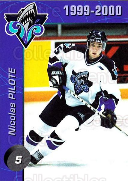 1999-00 Rimouski Oceanic #1 Nicolas Pilote<br/>4 In Stock - $3.00 each - <a href=https://centericecollectibles.foxycart.com/cart?name=1999-00%20Rimouski%20Oceanic%20%231%20Nicolas%20Pilote...&quantity_max=4&price=$3.00&code=212160 class=foxycart> Buy it now! </a>