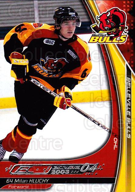 2003-04 Belleville Bulls #16 Milan Hluchy<br/>1 In Stock - $3.00 each - <a href=https://centericecollectibles.foxycart.com/cart?name=2003-04%20Belleville%20Bulls%20%2316%20Milan%20Hluchy...&price=$3.00&code=212396 class=foxycart> Buy it now! </a>