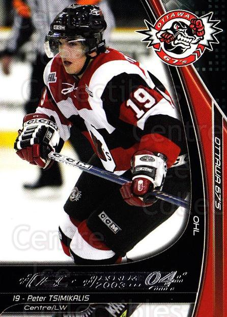 2003-04 Ottawa 67s #12 Peter Tsimikalis<br/>1 In Stock - $3.00 each - <a href=https://centericecollectibles.foxycart.com/cart?name=2003-04%20Ottawa%2067s%20%2312%20Peter%20Tsimikali...&quantity_max=1&price=$3.00&code=212414 class=foxycart> Buy it now! </a>