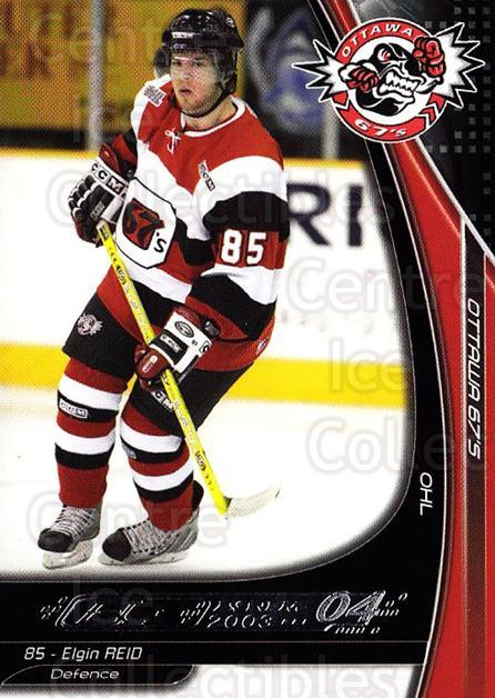 2003-04 Ottawa 67s #22 Elgin Reid<br/>2 In Stock - $3.00 each - <a href=https://centericecollectibles.foxycart.com/cart?name=2003-04%20Ottawa%2067s%20%2322%20Elgin%20Reid...&quantity_max=2&price=$3.00&code=212424 class=foxycart> Buy it now! </a>