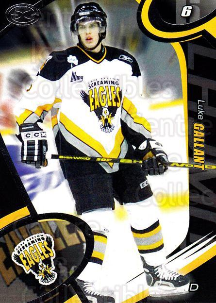 2004-05 Cape Breton Screaming Eagles #9 Luke Gallant<br/>1 In Stock - $3.00 each - <a href=https://centericecollectibles.foxycart.com/cart?name=2004-05%20Cape%20Breton%20Screaming%20Eagles%20%239%20Luke%20Gallant...&price=$3.00&code=212510 class=foxycart> Buy it now! </a>