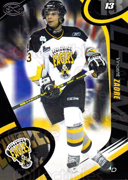 2004-05 Cape Breton Screaming Eagles #22 Vincent Zaore<br/>2 In Stock - $3.00 each - <a href=https://centericecollectibles.foxycart.com/cart?name=2004-05%20Cape%20Breton%20Screaming%20Eagles%20%2322%20Vincent%20Zaore...&price=$3.00&code=212523 class=foxycart> Buy it now! </a>