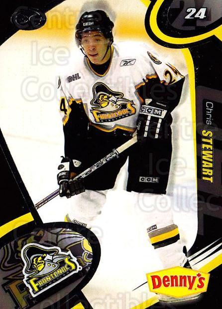 2004-05 Kingston Frontenacs #4 Chris Stewart<br/>2 In Stock - $3.00 each - <a href=https://centericecollectibles.foxycart.com/cart?name=2004-05%20Kingston%20Frontenacs%20%234%20Chris%20Stewart...&quantity_max=2&price=$3.00&code=212528 class=foxycart> Buy it now! </a>