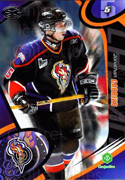 2004-05 Olympiques De Gatineau #9 Jonathan Carrier<br/>4 In Stock - $3.00 each - <a href=https://centericecollectibles.foxycart.com/cart?name=2004-05%20Olympiques%20De%20Gatineau%20%239%20Jonathan%20Carrie...&quantity_max=4&price=$3.00&code=212557 class=foxycart> Buy it now! </a>