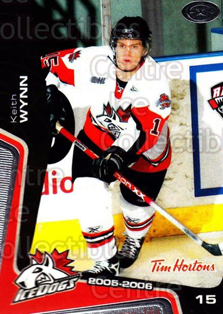 2005-06 Mississauga Ice Dogs #6 Keith Wynn<br/>2 In Stock - $3.00 each - <a href=https://centericecollectibles.foxycart.com/cart?name=2005-06%20Mississauga%20Ice%20Dogs%20%236%20Keith%20Wynn...&quantity_max=2&price=$3.00&code=212633 class=foxycart> Buy it now! </a>
