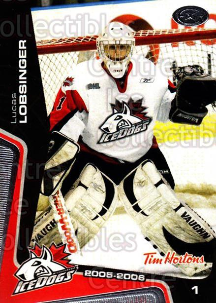 2005-06 Mississauga Ice Dogs #7 Lucas Lobsinger<br/>2 In Stock - $3.00 each - <a href=https://centericecollectibles.foxycart.com/cart?name=2005-06%20Mississauga%20Ice%20Dogs%20%237%20Lucas%20Lobsinger...&quantity_max=2&price=$3.00&code=212634 class=foxycart> Buy it now! </a>