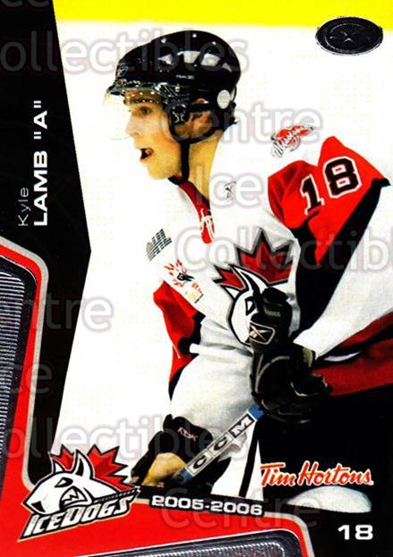 2005-06 Mississauga Ice Dogs #9 Kyle Lamb<br/>2 In Stock - $3.00 each - <a href=https://centericecollectibles.foxycart.com/cart?name=2005-06%20Mississauga%20Ice%20Dogs%20%239%20Kyle%20Lamb...&quantity_max=2&price=$3.00&code=212636 class=foxycart> Buy it now! </a>