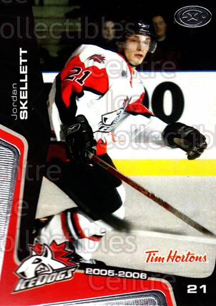2005-06 Mississauga Ice Dogs #11 Jordan Skellett<br/>2 In Stock - $3.00 each - <a href=https://centericecollectibles.foxycart.com/cart?name=2005-06%20Mississauga%20Ice%20Dogs%20%2311%20Jordan%20Skellett...&quantity_max=2&price=$3.00&code=212638 class=foxycart> Buy it now! </a>