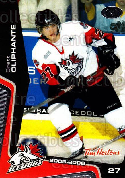 2005-06 Mississauga Ice Dogs #15 Brett Oliphante<br/>2 In Stock - $3.00 each - <a href=https://centericecollectibles.foxycart.com/cart?name=2005-06%20Mississauga%20Ice%20Dogs%20%2315%20Brett%20Oliphante...&quantity_max=2&price=$3.00&code=212642 class=foxycart> Buy it now! </a>