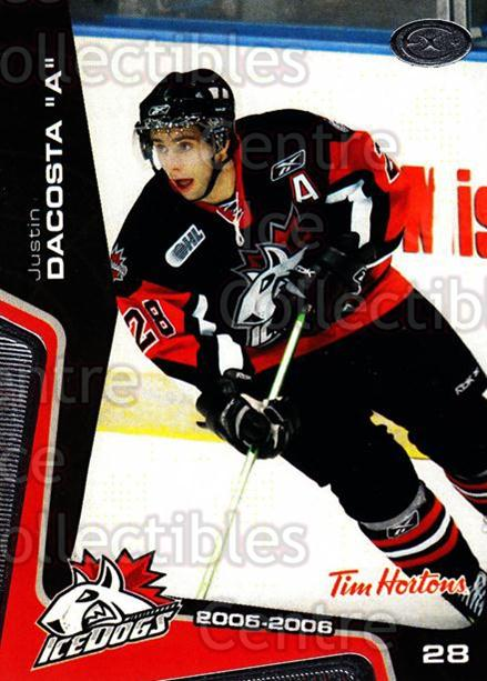 2005-06 Mississauga Ice Dogs #16 Justin Dacosta<br/>1 In Stock - $3.00 each - <a href=https://centericecollectibles.foxycart.com/cart?name=2005-06%20Mississauga%20Ice%20Dogs%20%2316%20Justin%20Dacosta...&quantity_max=1&price=$3.00&code=212643 class=foxycart> Buy it now! </a>