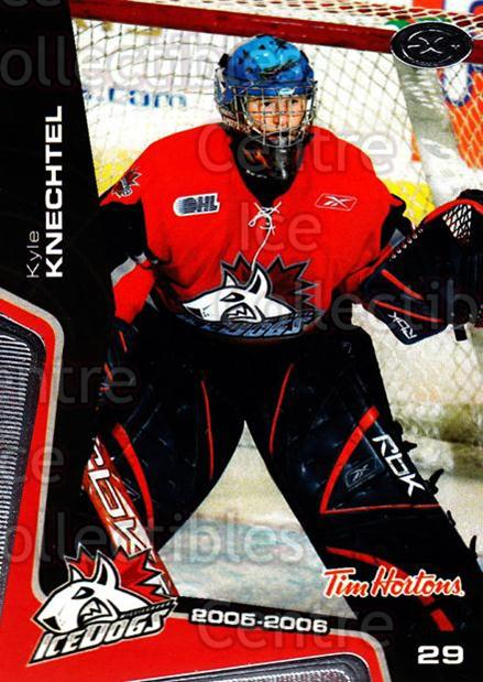 2005-06 Mississauga Ice Dogs #17 Kyle Knechtel<br/>2 In Stock - $3.00 each - <a href=https://centericecollectibles.foxycart.com/cart?name=2005-06%20Mississauga%20Ice%20Dogs%20%2317%20Kyle%20Knechtel...&quantity_max=2&price=$3.00&code=212644 class=foxycart> Buy it now! </a>