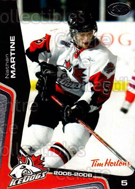 2005-06 Mississauga Ice Dogs #20 Nathan Martine<br/>2 In Stock - $3.00 each - <a href=https://centericecollectibles.foxycart.com/cart?name=2005-06%20Mississauga%20Ice%20Dogs%20%2320%20Nathan%20Martine...&quantity_max=2&price=$3.00&code=212647 class=foxycart> Buy it now! </a>