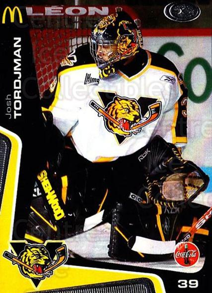 2005-06 Victoriaville Tigres #5 Josh Tordjman<br/>1 In Stock - $3.00 each - <a href=https://centericecollectibles.foxycart.com/cart?name=2005-06%20Victoriaville%20Tigres%20%235%20Josh%20Tordjman...&quantity_max=1&price=$3.00&code=212656 class=foxycart> Buy it now! </a>