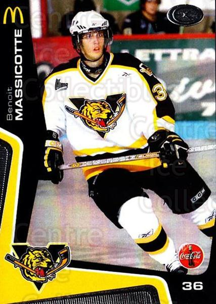 2005-06 Victoriaville Tigres #6 Benoit Massicotte<br/>3 In Stock - $3.00 each - <a href=https://centericecollectibles.foxycart.com/cart?name=2005-06%20Victoriaville%20Tigres%20%236%20Benoit%20Massicot...&quantity_max=3&price=$3.00&code=212657 class=foxycart> Buy it now! </a>