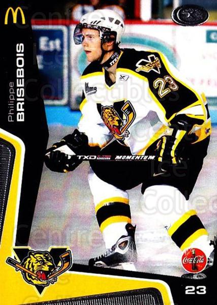 2005-06 Victoriaville Tigres #11 Philippe Brisebois<br/>3 In Stock - $3.00 each - <a href=https://centericecollectibles.foxycart.com/cart?name=2005-06%20Victoriaville%20Tigres%20%2311%20Philippe%20Briseb...&quantity_max=3&price=$3.00&code=212662 class=foxycart> Buy it now! </a>