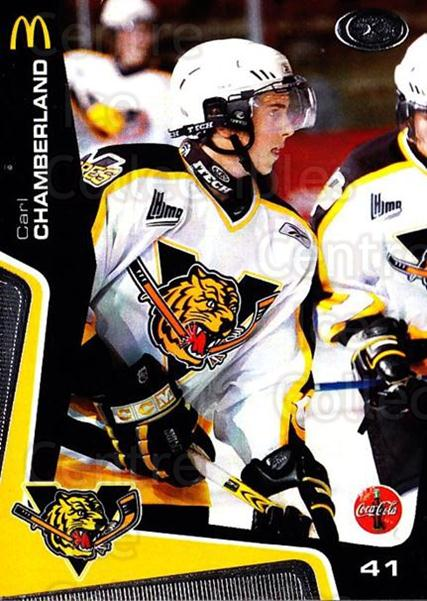 2005-06 Victoriaville Tigres #15 Carl Chamberland<br/>3 In Stock - $3.00 each - <a href=https://centericecollectibles.foxycart.com/cart?name=2005-06%20Victoriaville%20Tigres%20%2315%20Carl%20Chamberlan...&quantity_max=3&price=$3.00&code=212666 class=foxycart> Buy it now! </a>