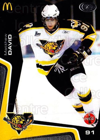 2005-06 Victoriaville Tigres #17 Matthew David<br/>3 In Stock - $3.00 each - <a href=https://centericecollectibles.foxycart.com/cart?name=2005-06%20Victoriaville%20Tigres%20%2317%20Matthew%20David...&quantity_max=3&price=$3.00&code=212668 class=foxycart> Buy it now! </a>