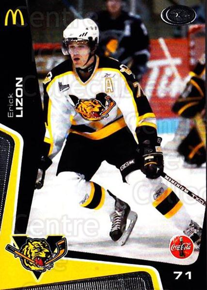 2005-06 Victoriaville Tigres #18 Erick Lizon<br/>1 In Stock - $3.00 each - <a href=https://centericecollectibles.foxycart.com/cart?name=2005-06%20Victoriaville%20Tigres%20%2318%20Erick%20Lizon...&quantity_max=1&price=$3.00&code=212669 class=foxycart> Buy it now! </a>