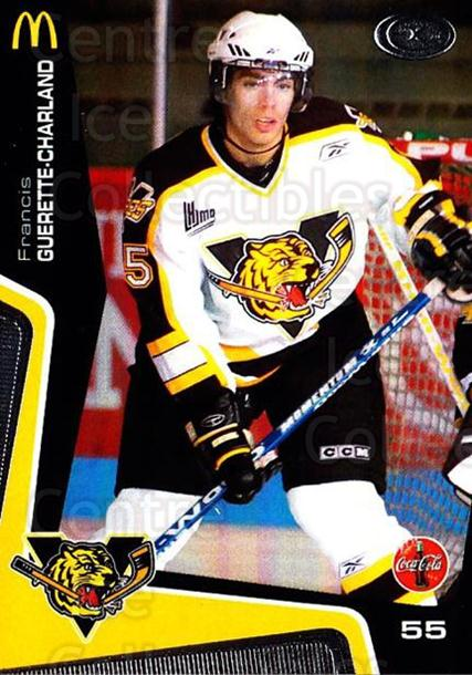 2005-06 Victoriaville Tigres #20 Francis Guerette-Charland<br/>3 In Stock - $3.00 each - <a href=https://centericecollectibles.foxycart.com/cart?name=2005-06%20Victoriaville%20Tigres%20%2320%20Francis%20Guerett...&quantity_max=3&price=$3.00&code=212671 class=foxycart> Buy it now! </a>