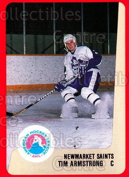 1988-89 ProCards AHL #233 Tim Armstrong<br/>12 In Stock - $2.00 each - <a href=https://centericecollectibles.foxycart.com/cart?name=1988-89%20ProCards%20AHL%20%23233%20Tim%20Armstrong...&quantity_max=12&price=$2.00&code=21275 class=foxycart> Buy it now! </a>