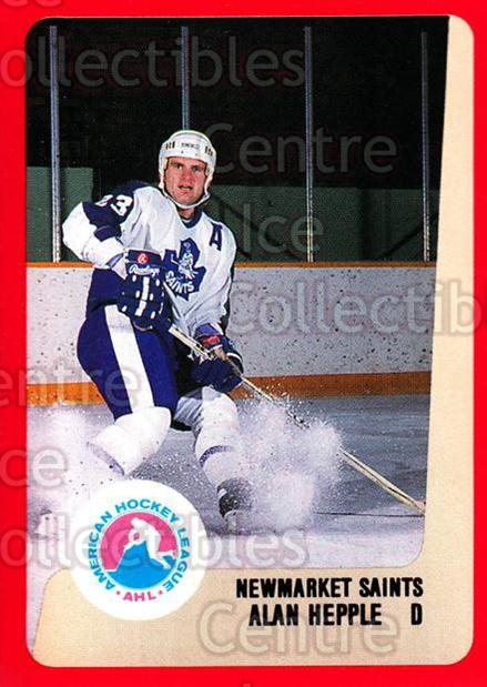 1988-89 ProCards AHL #234 Alan Hepple<br/>10 In Stock - $2.00 each - <a href=https://centericecollectibles.foxycart.com/cart?name=1988-89%20ProCards%20AHL%20%23234%20Alan%20Hepple...&quantity_max=10&price=$2.00&code=21276 class=foxycart> Buy it now! </a>