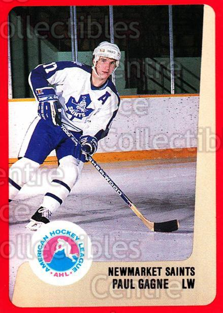 1988-89 ProCards AHL #237 Paul Gagne<br/>7 In Stock - $2.00 each - <a href=https://centericecollectibles.foxycart.com/cart?name=1988-89%20ProCards%20AHL%20%23237%20Paul%20Gagne...&quantity_max=7&price=$2.00&code=21279 class=foxycart> Buy it now! </a>