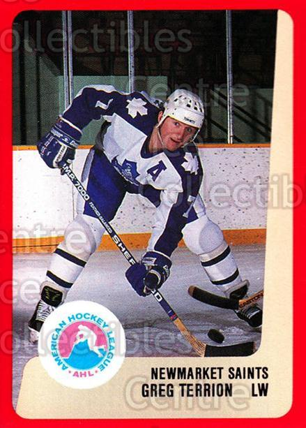 1988-89 ProCards AHL #240 Greg Terrion<br/>10 In Stock - $2.00 each - <a href=https://centericecollectibles.foxycart.com/cart?name=1988-89%20ProCards%20AHL%20%23240%20Greg%20Terrion...&quantity_max=10&price=$2.00&code=21282 class=foxycart> Buy it now! </a>