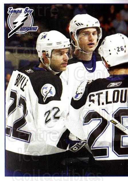 2006-07 Panini Stickers #145 Martin St. Louis, Dan Boyle, Fredrik Modin, Brad Richards<br/>1 In Stock - $1.00 each - <a href=https://centericecollectibles.foxycart.com/cart?name=2006-07%20Panini%20Stickers%20%23145%20Martin%20St.%20Loui...&quantity_max=1&price=$1.00&code=212991 class=foxycart> Buy it now! </a>