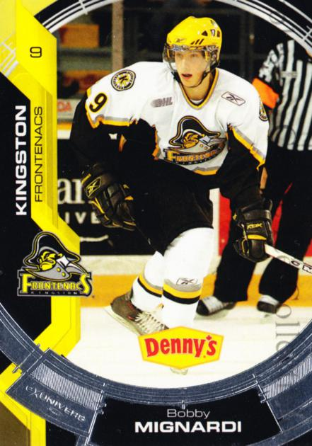 2006-07 Kingston Frontenacs #3 Bobby Mignardi<br/>2 In Stock - $3.00 each - <a href=https://centericecollectibles.foxycart.com/cart?name=2006-07%20Kingston%20Frontenacs%20%233%20Bobby%20Mignardi...&price=$3.00&code=213195 class=foxycart> Buy it now! </a>
